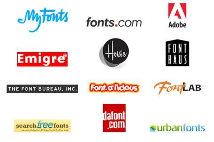 Font Provider Logos