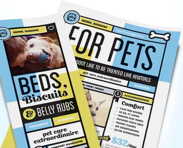 Pet Boarding Business Marketing Materials - Graphic Design Ideas