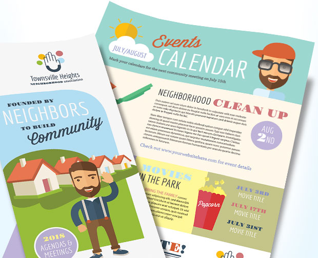 Homeowners Association Newsletter Marketing – Design
