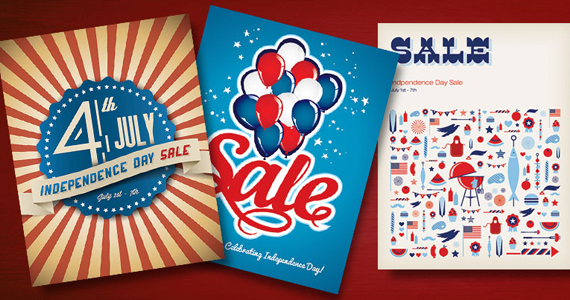 Indepedence Day Fourth of July Sale Posters