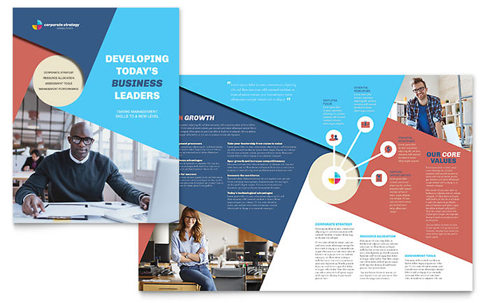 InDesign Template - Corporate Brochure Example