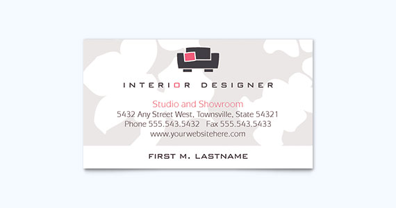Interior Designer Business Card Design
