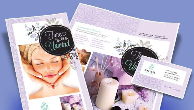 Massage Business Marketing - Brochures, Flyers - Graphic Designs