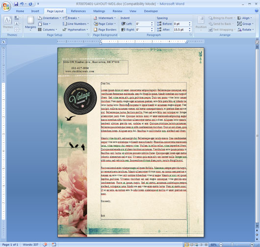 Edit Letterhead Template in Word