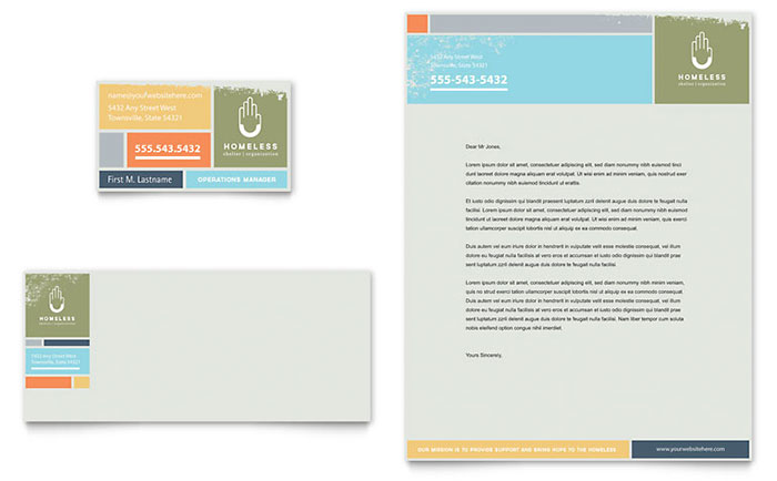 Stationery Design - Nonprofit Homeless Shelter