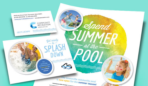 Community Swim Center - Recreation Center - Marketing Material Examples