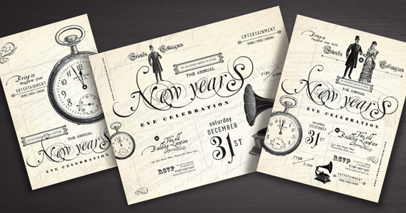 New Year's Party Flyer, Poster, Invitation Designs
