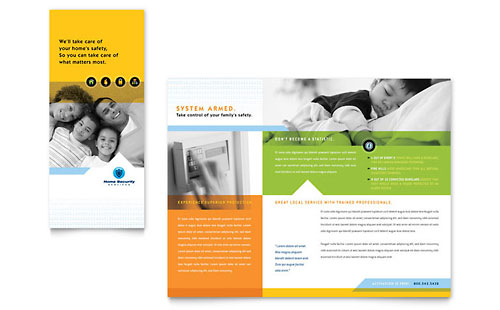 Illustrator Brochure Templates Free. home security systems ...