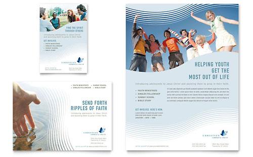 Christian Ministry Tri Fold Brochure Template Design