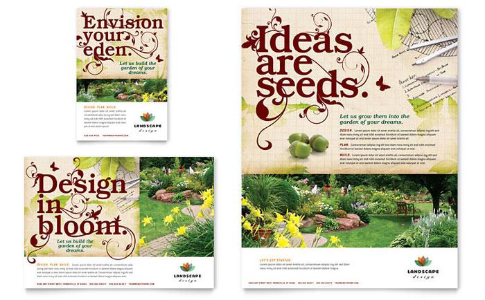 Landscape Design Flyer Ad Template Design