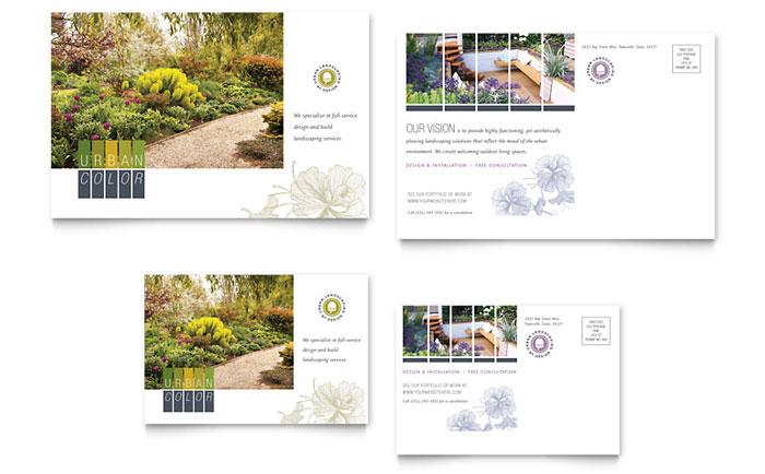 Urban Landscaping Postcard Example
