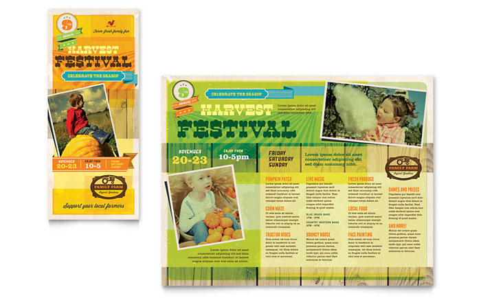 Brochure Sample - Farm Harvest Festival