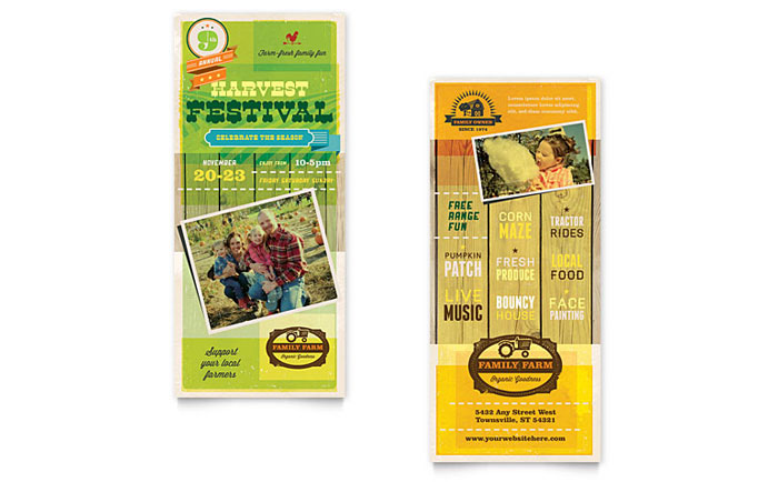 Harvest Festival - Rack Card Example