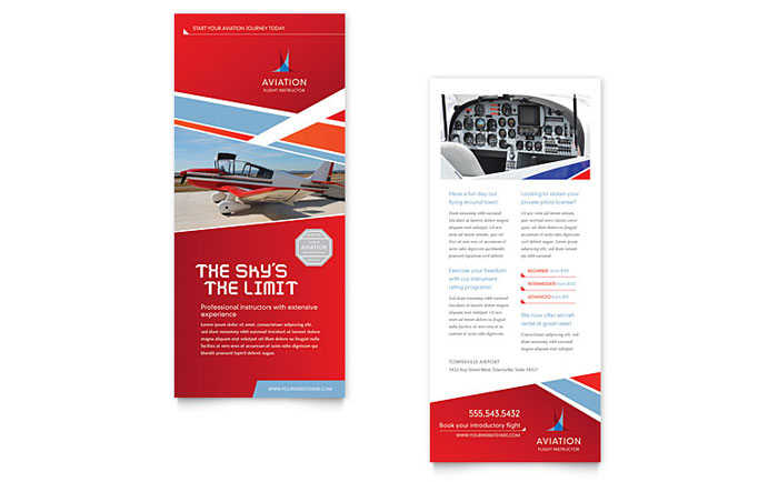 Rack Card Example - Aviation Flight Instructor
