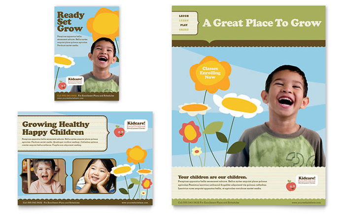 Child Development Advertisement Design