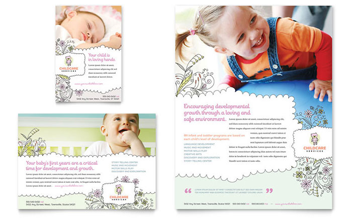 Daycare Advertisements & Flyers for Small Business Marketing ...