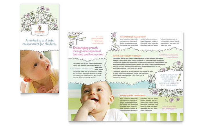 Baby & Child Day Care Brochure Design
