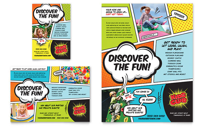 Advertisements & Flyer Sample - Kids Club