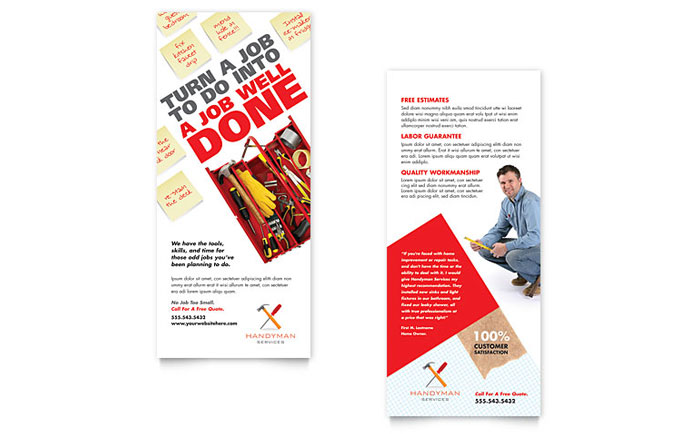 Handyman Services Rack Card Design