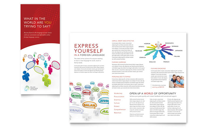 Language Art Brochure Design