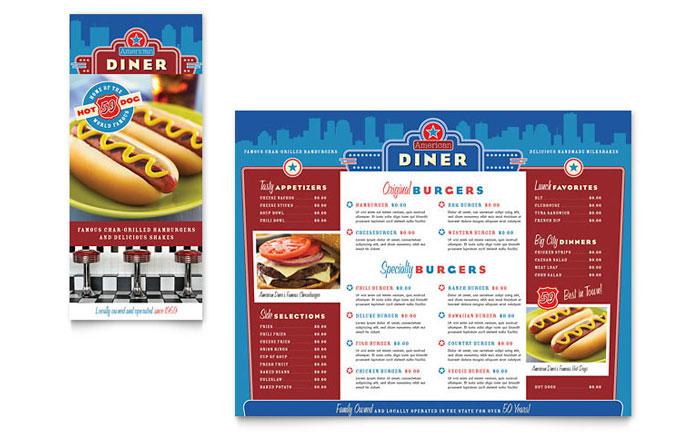 Menu Example - American Diner
