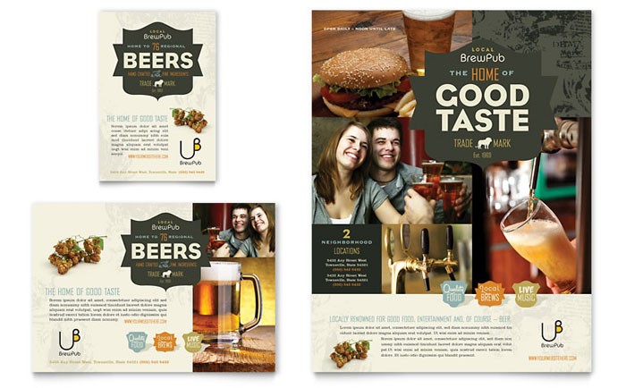 Brewery Flyer & Ad Design