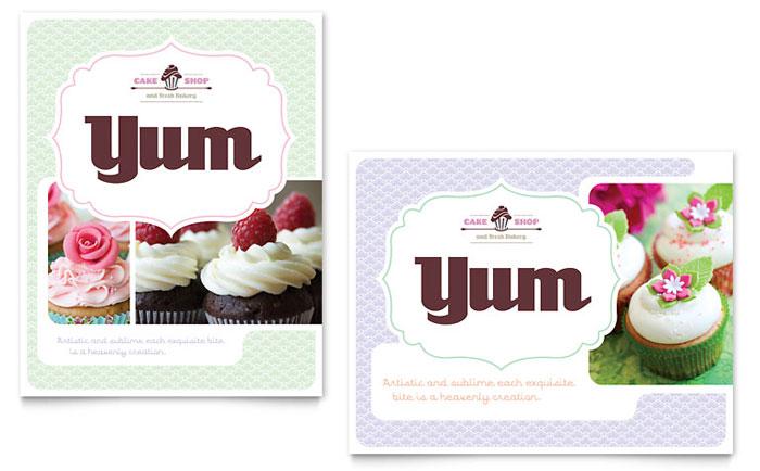 Cake Shop Poster Design