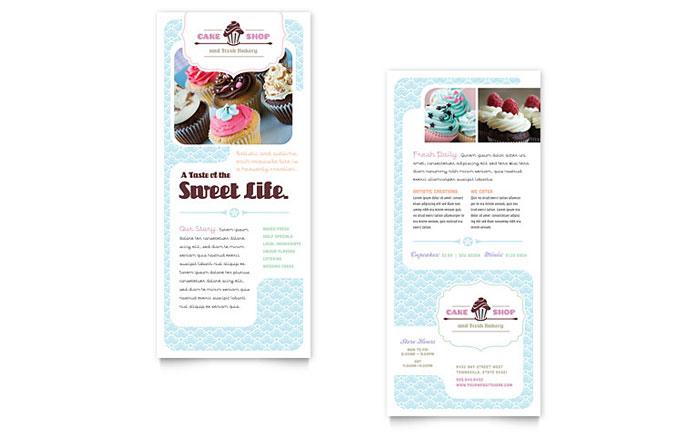 Cake Shop Rack Card Design