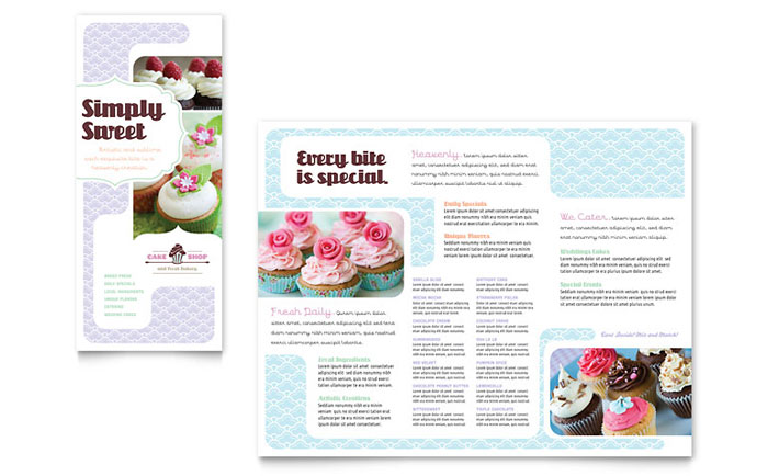 Cake Shop Brochure Design