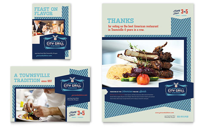 Fine Dining Restaurant Flyer Amp Ad Template Design