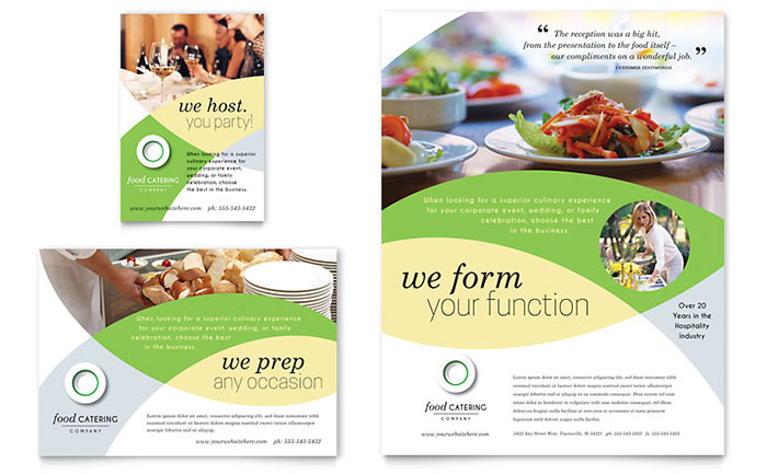 Food Catering - Flyer & Ad Design
