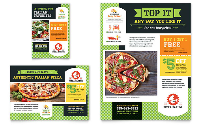 Italian Pizza Parlor - Flyer & Advertisement Design Idea