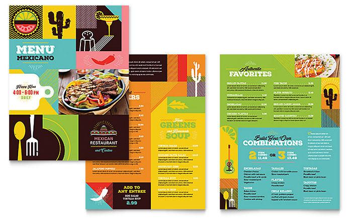 Menu Example - Mexican Restaurant