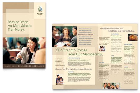 Credit Union   Bank Brochure Template Design