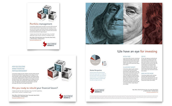 Investment Bank Flyer Amp Ad Template Design