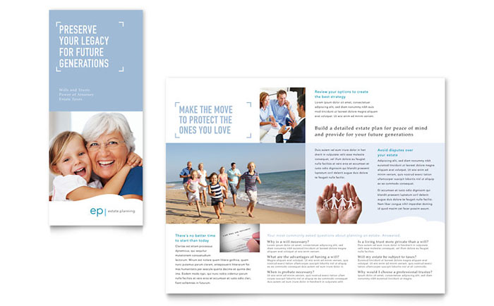 Estate Planning Tri Fold Brochure Design