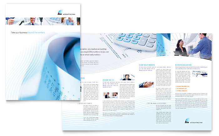 Accounting Firm - Half Fold Brochure Example