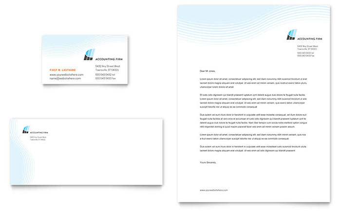 Accounting Firm - Letterhead & Business Card Example