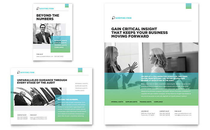 Auditing Firm Flyer Amp Ad Template Design