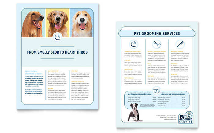 Datasheet Example - Pet Grooming Service
