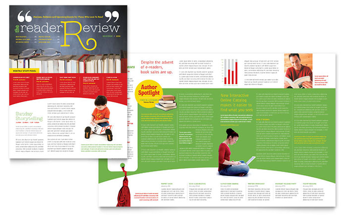 school library newsletter design