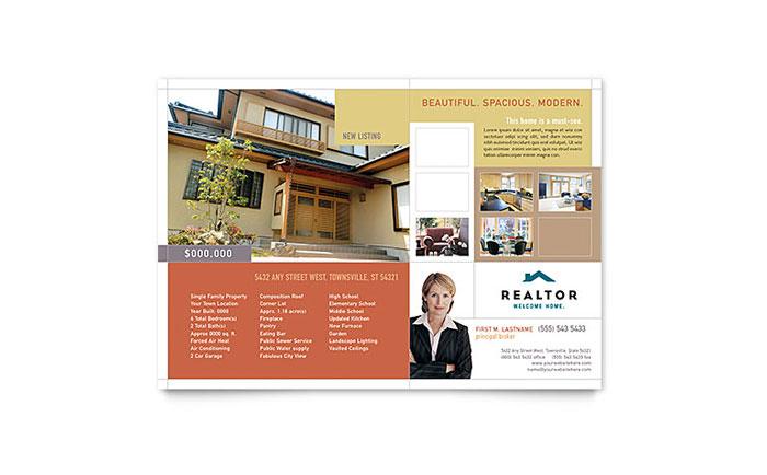 Realtor Amp Real Estate Agency Flyer Template Design