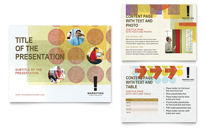 Marketing Consultant - PowerPoint Business Presentation