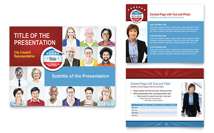 Political Candidate - PowerPoint Presentation Design Example