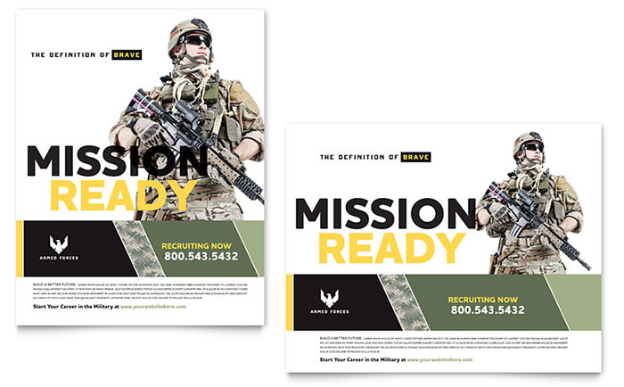 Military Poster Design Sample