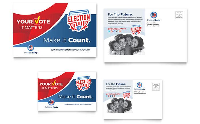 Election Postcard Design Sample
