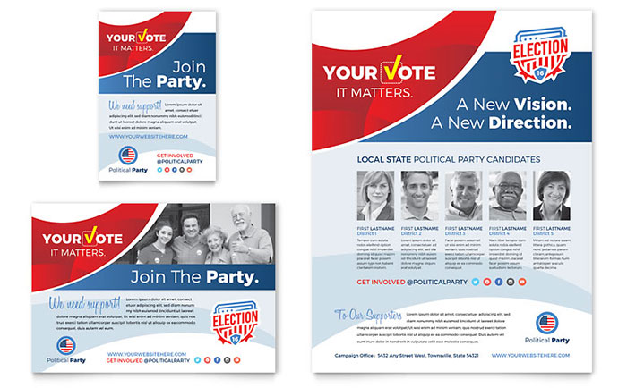 Election Poster Flyer Designs For Winning Political