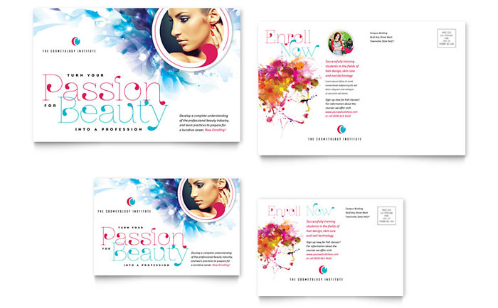Postcard Sample - Cosmetology