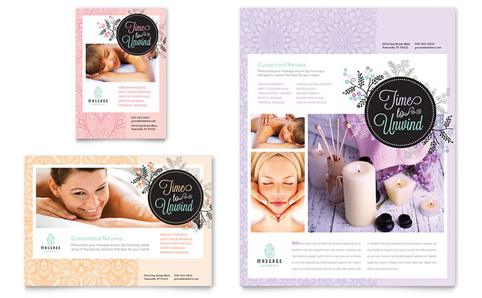 Marketing brochures flyers to promote your massage for Massage brochure template