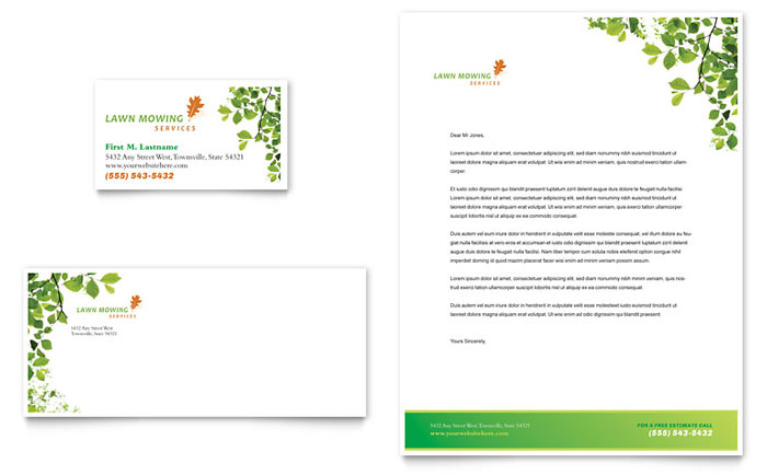 Lawn Mowing Service Stationery Design